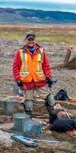 Tim at work on Baffin Island, Nunavut. Photo by Marc Pike.