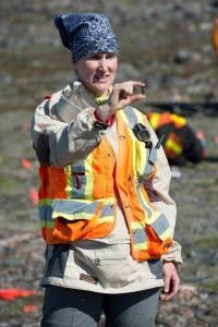 Excavating on northwestern Baffin Island (Marc Pike).